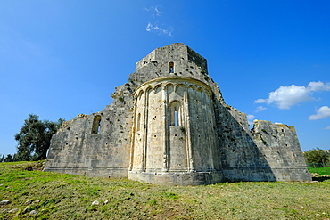 Benedictine San Bruzio Monastery ruins, Magliano in Toscana, Tuscany, Italy, Europe