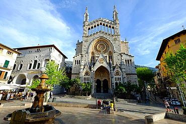 Sant Bartomeu Church, Soller, Majorca, Balearic Islands, Spain, Europe
