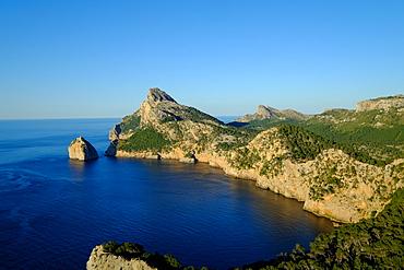 Punta Nau seen from el Mirador Es Colomer in the Formentor Peninsula, Majorca, Balearic Islands, Spain, Mediterranean, Europe