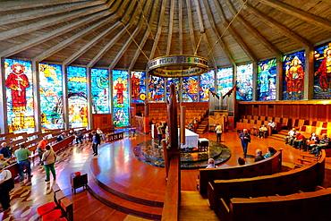 Nuestra Senora de los Angeles de la Porciuncula Church (Iglesia de Cristal) (Glass Church), Palma de Mallorca, Majorca, Balearic Islands, Spain, Europe