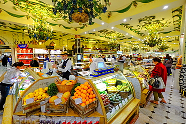 Fruit and Vegetable Hall, Harrods department store, London, England, United Kingdom, Europe