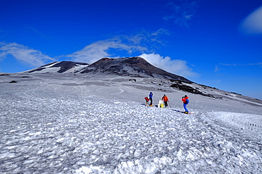 Summit craters, Mount Etna, UNESCO World Heritage Site, Catania, Sicily, Italy, Europe