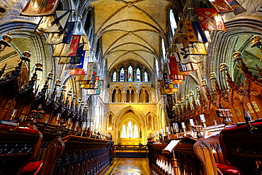 The choir in St. Patrick's Cathedral, Dublin, Republic of Ireland, Europe