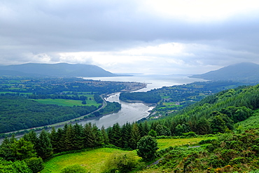 Newry Canal flowing into the Carlingford Lough at Warrenpoint, County Down, Ulster, Northern Ireland, United Kingdom, Europe