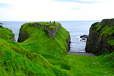 Dunseverick Castle, Causeway Road, County Antrim, Ulster, Northern Ireland, United Kingdom, Europe