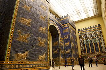 Ishtar Gate from Babylon at Berlin Pergamon Museum, Berlin, Germany, Europe