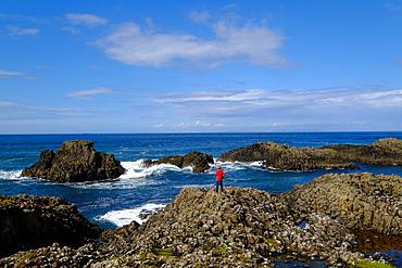 Ballintoy Harbour, Ballycastle, County Antrim, Ulster, Northern Ireland, United Kingdom, Europe