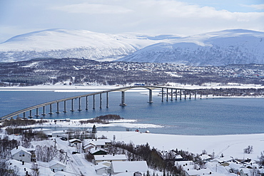 Tromso and its airport, Tromso, Troms County, Norway, Scandinavia, Europe