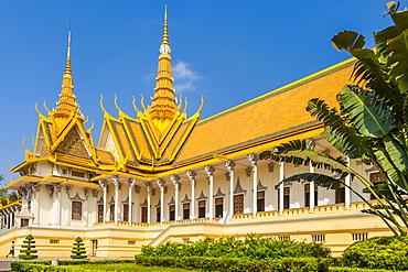 Throne Hall, Royal Palace, Phnom Penh, Cambodia, Indochina, Southeast Asia, Asia