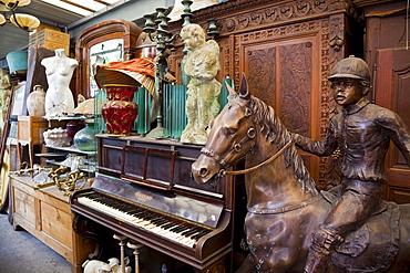 Antiques for sale, Les Puces de Saint-Ouen Flea Market, Porte de Clignancourt, Paris, France, Europe