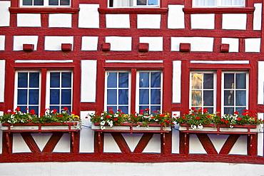 Half-timbered facades, St. Gallen, Switzerland, Europe