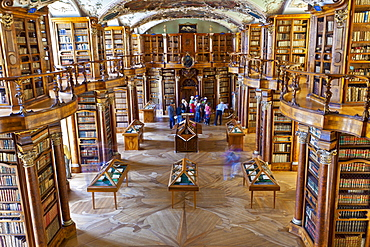The Rococo style Abbey Library, containing the oldest library collection in the country, St. Gallen, Switzerland, Europe