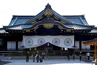 Main hall of Yasukuni Shrine, a memorial to war dead, in Chiyoda-ku, Tokyo, Japan, Asia