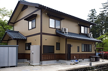 Typical contemporary two-storey, single-family Japanese residence in the suburbs, Japan, Asia