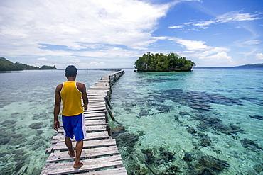 Long bridge, Togian Islands, Sulawesi, Indonesia, Southeast Asia, Asia