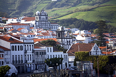 Town of Horta on the island of Faial, The Azores, Portugal, Europe