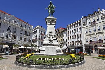Joaquim Antonio de Aguiar memorial at the Largo de Portagem square, Coimbra, Beira Litoral, Portugal, Europe