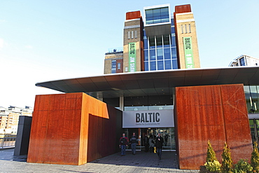 Entrance of the Baltic Centre for Contemporary Art, Gateshead Quays, Gateshead, Tyne and Wear, England, United Kingdom, Europe