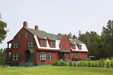 Roosevelt Cottage at Roosevelt Campobello International Park on Campobello Island in New Brunswick, Canada, North America