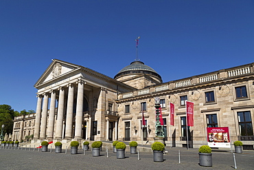 The Kurhaus, the location of a conference centre and casino, a building dating from the 19th century in Wiesbaden, Hesse, Germany, Europe
