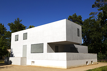 The Gropius House, one of the Bauhaus Masters' Houses, designed by Walter Gropius, in Dessau, Saxony Anhalt, Germany, Europe