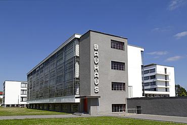 The Bauhaus Building, designed by Walter Gropius in 1926, UNESCO World Heritage Site, Dessau, Saxony Anhalt, Germany, Europe
