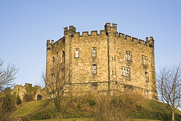 Durham Castle, a motte and bailey structure, UNESCO World Heritage Site, Durham, England, United Kingdom, Europe