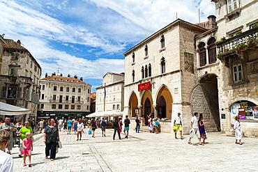 Narodni Trg square, Split, region of Dalmatia, Croatia, Europe
