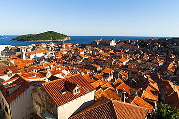 Old town view, Dubrovnik, UNESCO World Heritage Site, Dubrovnik-Neretva county, Croatia, Europe