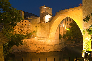 Stari Most (Old Bridge), UNESCO World Heritage Site, Mostar, municipality of Mostar, Bosnia and Herzegovina, Europe