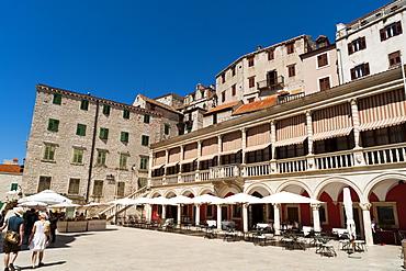 Town Hall (Duke's Palace), Katedralni Trg - Platea Magna (Cathedral Square), Sibenik, Dalmatia region, Croatia, Europe