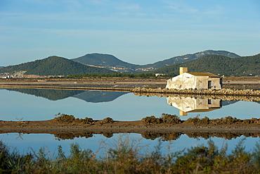 Salt lake, Ses Salines natural park, Ibiza, Balearic Islands, Spain, Mediterranean, Europe