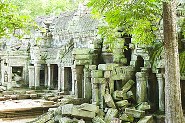 Ruins of Preah Khan Temple, UNESCO World Heritage Site, Angkor, Siem Reap, Cambodia, Indochina, Southeast Asia, Asia