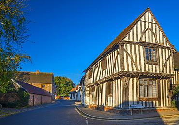 Corner of Water Street and Lady Street, Lavenham, Suffolk, England, United Kingdom, Europe