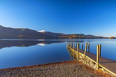 Ashness Jetty, Derwentwater, Keswick, Lake District National Park, Cumbria, England, United Kingdom, Europe