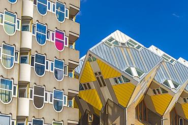 Cube houses (Pole Houses) (Tree Houses), Kubuswoningen, Rotterdam, South Holland, The Netherlands, Europe