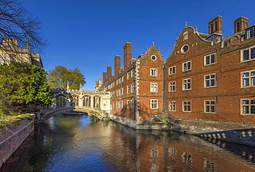 River Cam, St. John's College, Bridge of Sighs, Cambridge, Cambridgeshire, England, United Kingdom, Europe