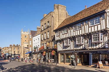 The Mitre and The Baron of Beef pubs, Bridge Street, Cambridge, Cambridgeshire, England, United Kingdom, Europe