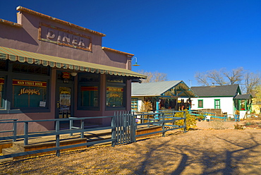 Diner used in Wild Hogs movie, Madrid, Turquoise Trail, New Mexico, United States of America, North America