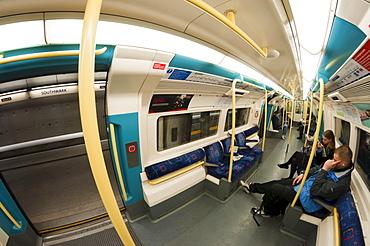 Jubilee Line train at Southwark Station, London, England, United Kingdom, Europe