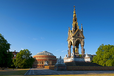 Royal Albert Hall and Albert Memorial, Kensington, London, England, United Kingdom, Europe