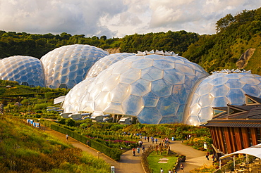 Eden Project near St. Austell, Cornwall, England, United Kingdom, Europe