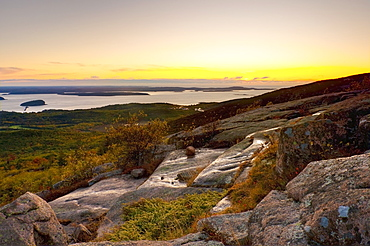View from Cadillac Mountain, Acadia National Park, Mount Desert Island, Maine, New England, United States of America, North America