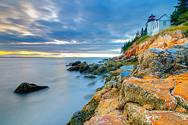 Bass Harbor Head Lighthouse, Bass Harbor, Mount Desert Island, Acadia National Park, Maine, New England, United States of America, North America