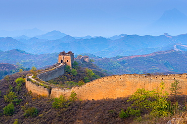 Gubeikou to Jinshanling section of the Great Wall of China, UNESCO World Heritage Site, Miyun County, Beijing Municipality, China, Asia