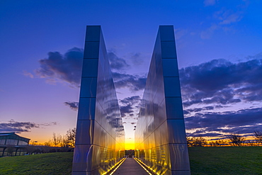 Empty Sky memorial to New Jerseyans lost during 911 attacks on the World Trade Center, Liberty State Park, Jersey City, New Jersey, United States of America, North America
