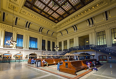 Waiting room, Hoboken Terminal Railway Station, Hoboken, New Jersey, United States of America, North America