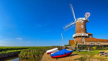 Cley Windmill, Cley-next-the-Sea, North Norfolk, Norfolk, England, United Kingdom, Europe
