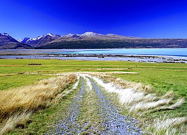 Lake Pukaki in the Aoraki National Park, South Island, New Zealand, Pacific