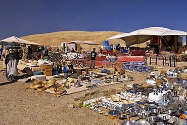 Open air market near Ouarzazate in Morocco
